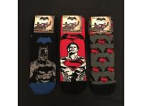 Batman Superman Official Licensed Character Socks with tags Adults