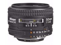 NIKKOR 50mm f/1.4 D LENS Like new
