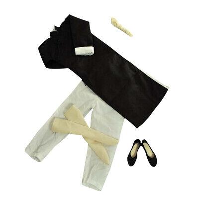 1/6 schwarze Robe Kostüm Yip Man Kung Fu Bruce Lee Anzug für Enterbay