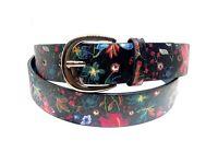 Multicoloured floral belts