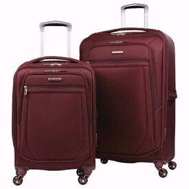 NEW - Samsonite Ultralite 2 Piece Luggage - Large 27inch & Cabin 18.5inch Spinner - In Wine