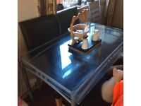 Glass dining table (table only)