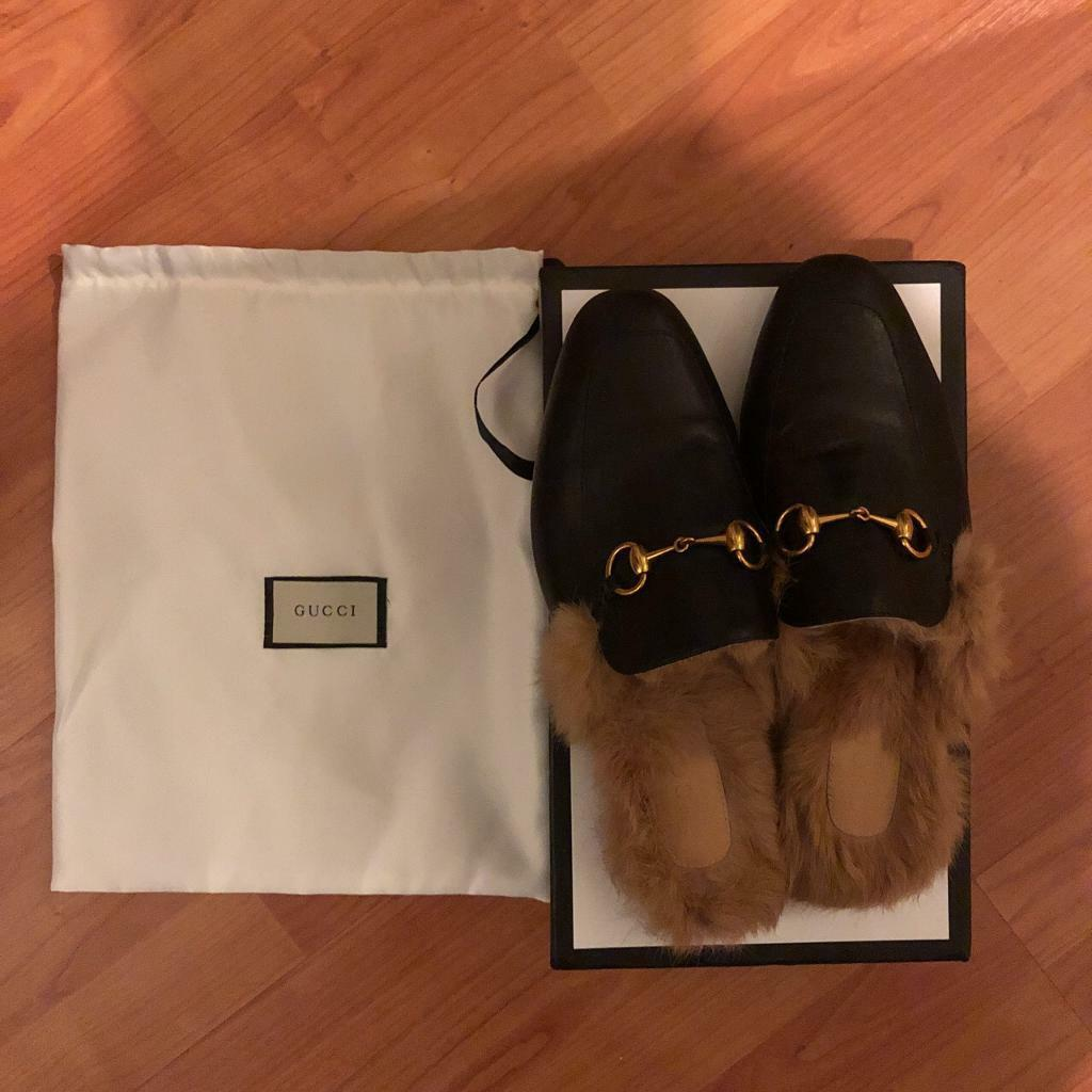 f13d8c4cd76 Gucci Princetown fur loafers in EU 41 UK7