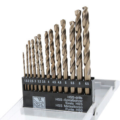 13 Pcs M35 Grade 5 Cobalt Hss Twist Drill Bit Set Drilling Tool
