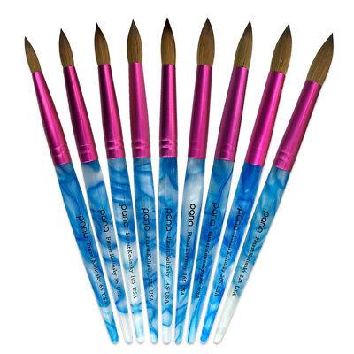 - USA #1 Famous PANA Top Quality Kolinsky Acrylic Round Nail Brush Size 6 to 22