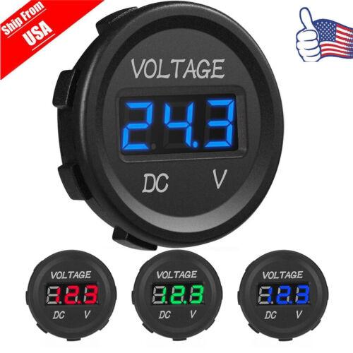 LED Digital Display Voltmeter Car Motorcycle Voltage Volt Gauge Panel Meter 12V