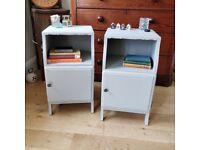 Pair of vintage bedside tables. bedside lockers.bedroom furniture, 2 bedside tables