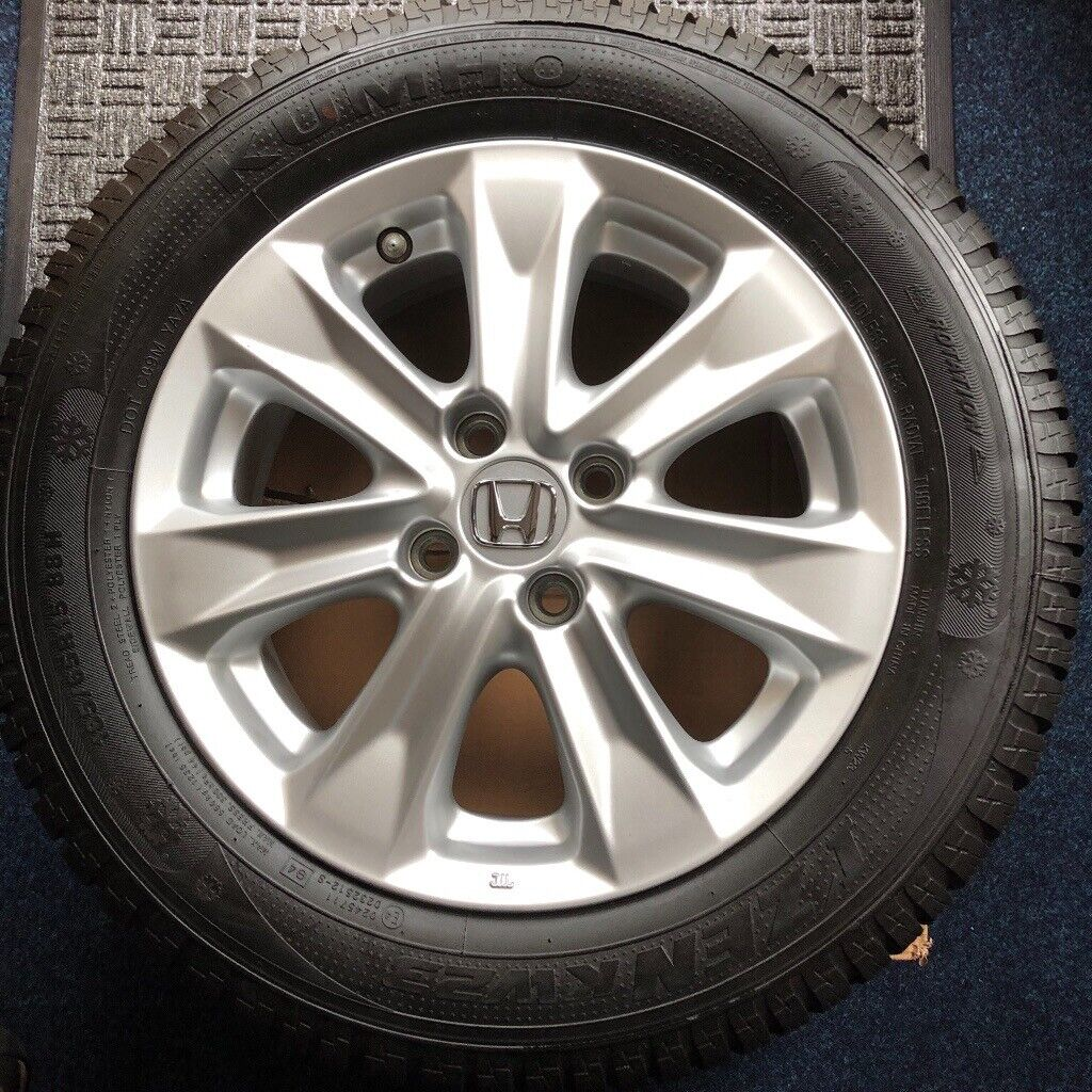 Set Of 4 2014 Onwards Honda Jazz 15 Wheels Plus Winter Tyres As