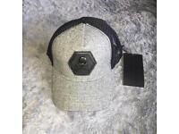 Philipp plein grey skull SnapBack Cap