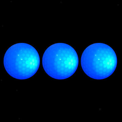 3 Stü Leuchtend Dunkelblaue LED Leuchten Golfball Turnierball