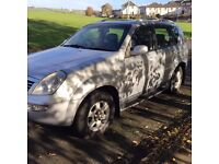 CHEAP DIESEL 4X4 WITH MOT NOV 2017 OFF ROAD SSANGYONG REXTON RX 270