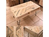 Hand Made Pallet Wood Coffee Table