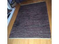 Habitat chocolate leather rug