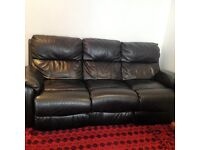 This is 3 Seater high quality Leather Electaic sofa from dfs store very new and very comfortable