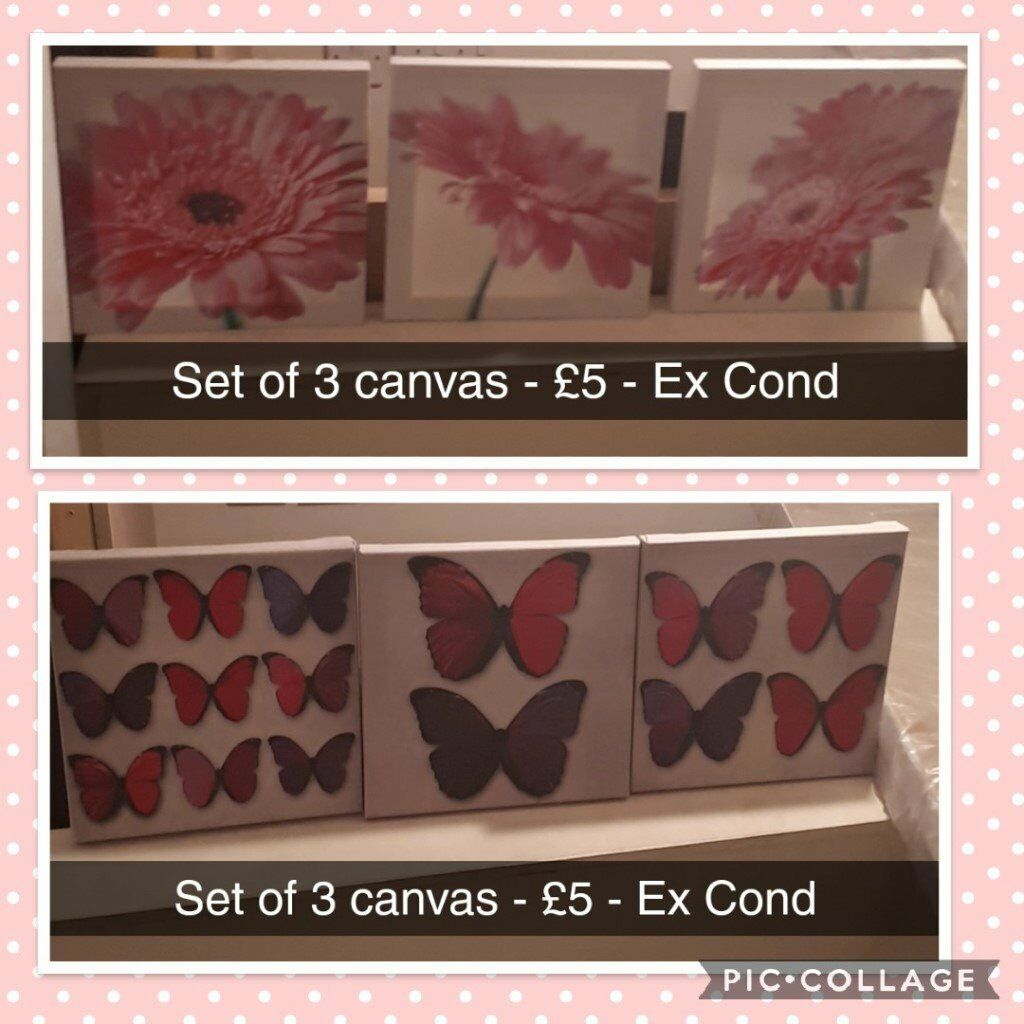 2 Sets Of Canvas / Wall Art