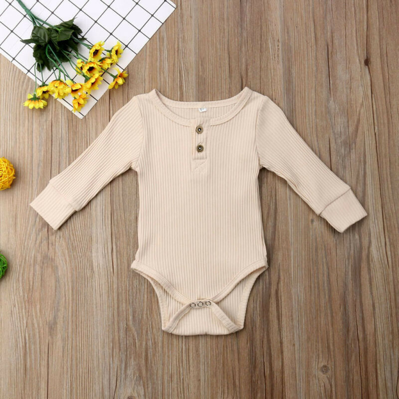 Newborn Infant Baby Boy Girl Knitted Romper Bodysuit Jumpsuit Clothes Outfit US