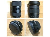 2 lenses along with their adaptors at £950 can also be sold seperately