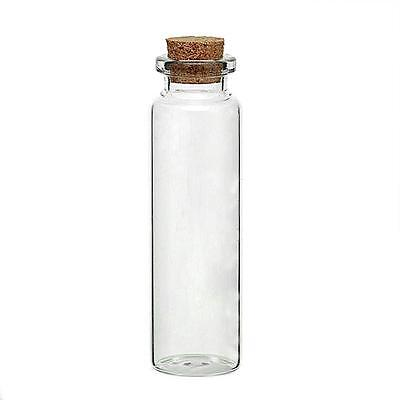 30 Mini Glass Bottles 7.9cm hold approx 20ml Shot Message Wish wedding Party