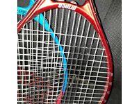 2 tennis rackets prince and slazenger