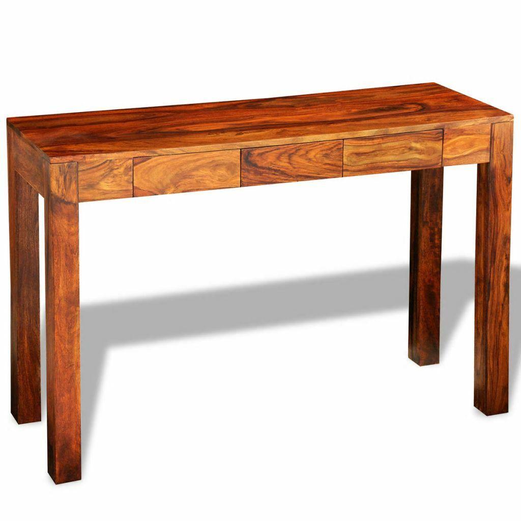 vidaXL Konsolentisch Halbrund Konsole Beistelltisch Flurtisch Tisch Schublade