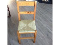 Single pine dining chair