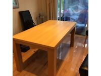 A Modern Oak Dining Table, six seater.