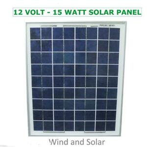 12 Volt 15 Watt Polycrystalline 36 Cell Solar Panel Photovoltaic PV 15 Watt Max - FREE SHIPPING