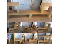 Shelves / TV at stand Maple wood effect - Great condition