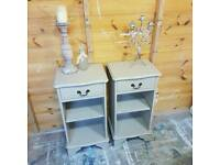 Shabby chic style bedside tables