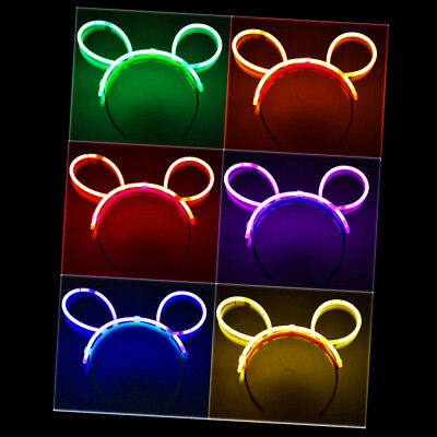ck Glo Party Headband Festival Rainbow Light Up Concert Hen (Glo In The Dark Party)