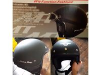Open face mt custom rider helmet