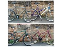 4 RALEIGH BIKES FOR SALE LADIES AND GENTS