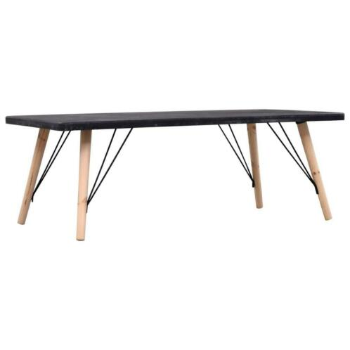 vidaXL Table basse Aspect de béton 112x60x41 cm MDF