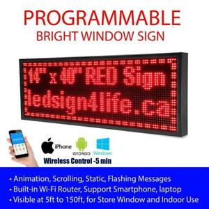 www.ledsign4life.ca, Programmable LED Sign, Super Bright Window Signs, Single/Tri/Full Color in P10 and P5