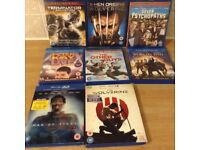 EIGHT BLU RAY DVDS