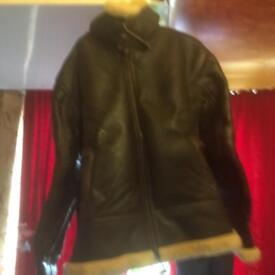 Air Force jacket fleece lined leather med