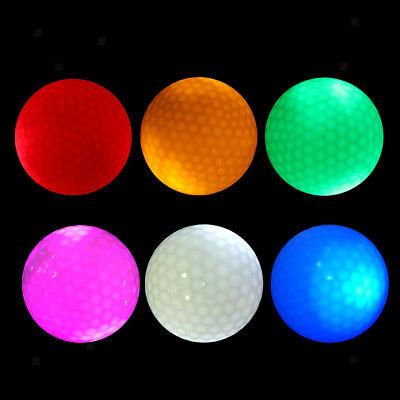 6Pcs LED Flashing Light Up Golf Balls for Sports Night Golfing ()