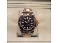 Rolex bi metal watch