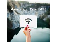 Website setup from £70