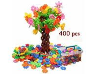 Educational Snow Flakes Toys Stacking Blocks Building Blocks 400 pcs