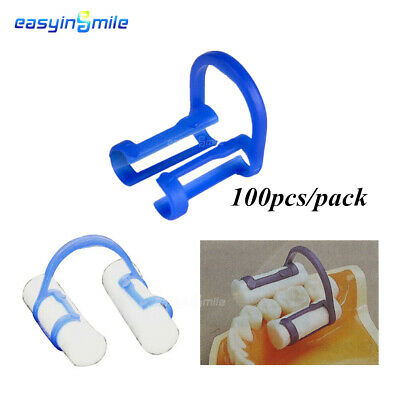 Dental Disposable Cotton Roll Holder Blue 100pcs Easyinsmile Teeth Cilp Holders