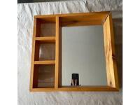 Mirror with shelves (slightly broken)
