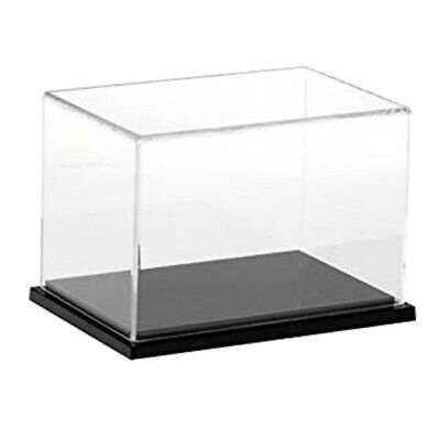 Jewelry Display Case Box Showcase Dustproof Protection For Model Toy Cube Clear