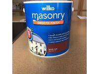 Masonry Paint Brick Red 2.5 Litres NEW