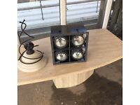Reclaimed Black box fitted with four lights in good condition