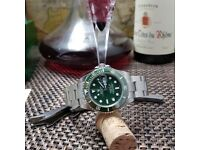 New green face Rolex Submariner With Silver Bracelet Comes Rolex Boxed with Paperwork