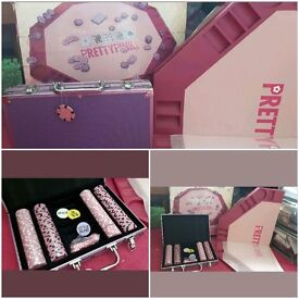 Pink poker set! Great condition. Some pieces still in packaging. May be able to deliver