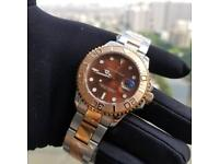 Rolex yacht master Swiss 2836 automatic bi metal rose gold stainless steel