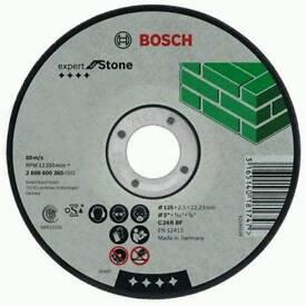 Bosch 115mm stone cutting discs x 50