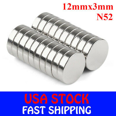 5-50pcs Super Strong Round Disc Magnets Rare-earth Neodymium Magnet 12mm3mm N52